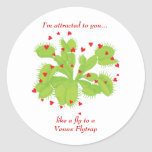 Hearts & Venus Flytrap Classic Round Sticker