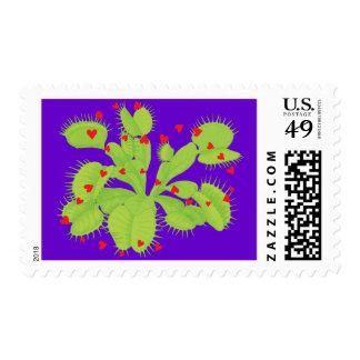 Hearts & Venus Flytrap Stamp