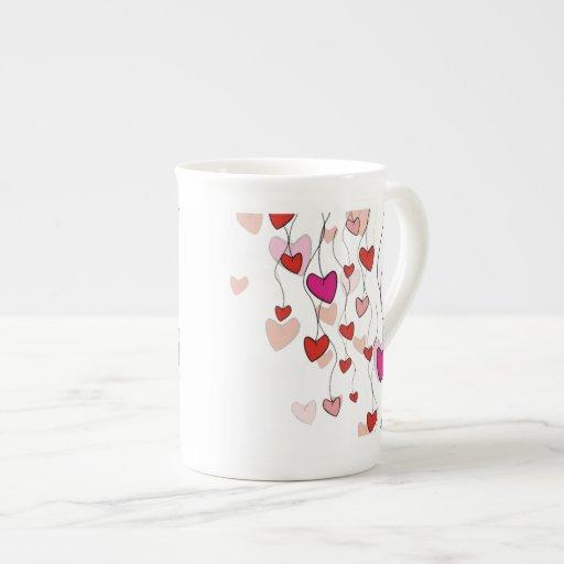 Hearts Vine Specialty Mugs Tea Cup