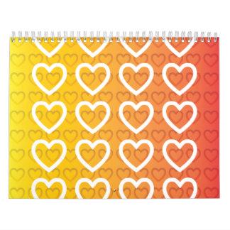 hearts warm gradient wall calendars