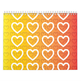 hearts warm gradient calendar