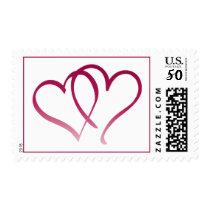 Hearts wedding postage