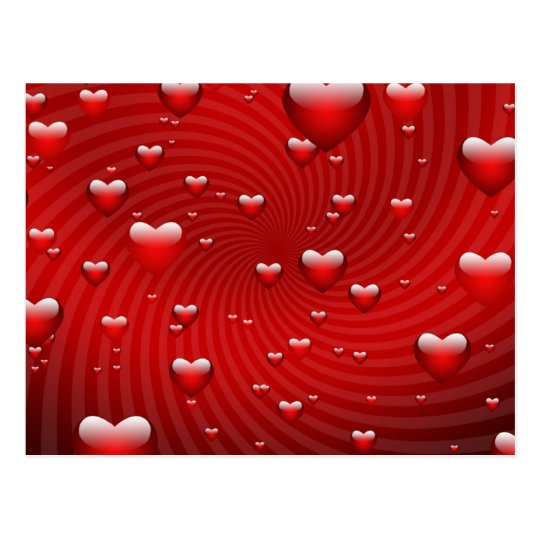 Hearts whirlpool postcard