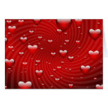 Hearts whirlpool stationery note card
