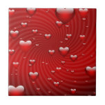 Hearts whirlpool tile