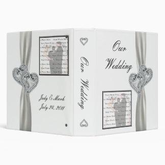 Hearts White Wedding Photo Album Vinyl Binder