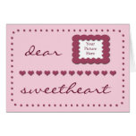 Hearts Wife Birthday template pink card