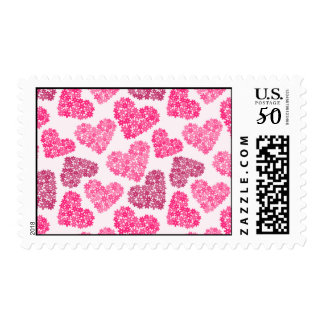 Hearts with flowers Postage