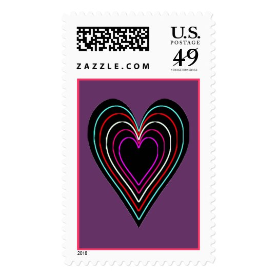 Hearts with GlowingEdges Postage