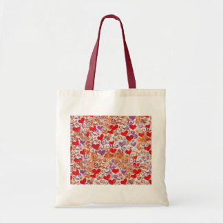 Hearts with gold vines bags