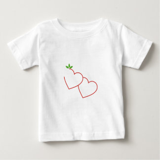 Hearts with leaves gathered in one place tees