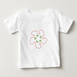 Hearts with leaves gathered in one place tee shirt