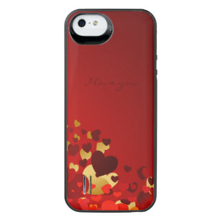 hearts with love declaration iPhone SE/5/5s battery case