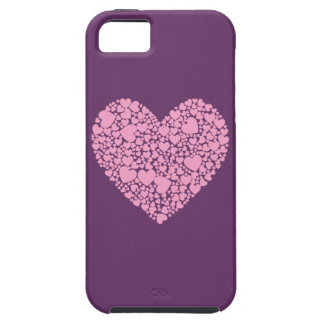 Hearts within a Heart-Grape iPhone SE/5/5s Case