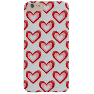 Hearts Within a Heart Pattern Barely There iPhone 6 Plus Case