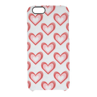 Hearts Within a Heart Pattern Clear iPhone 6/6S Case