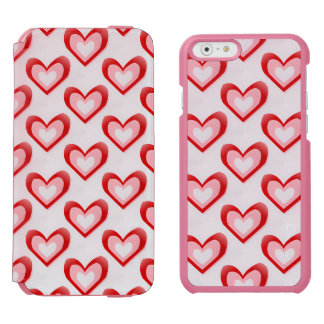Hearts Within a Heart Pattern iPhone 6/6s Wallet Case