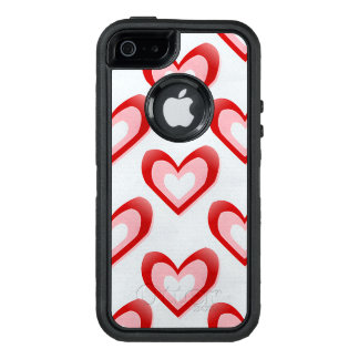 Hearts Within a Heart Pattern OtterBox iPhone 5/5s/SE Case