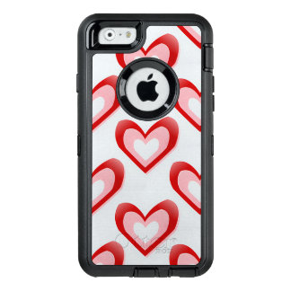 Hearts Within a Heart Pattern OtterBox iPhone 6/6s Case