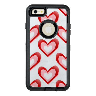 Hearts Within a Heart Pattern OtterBox iPhone 6/6s Plus Case