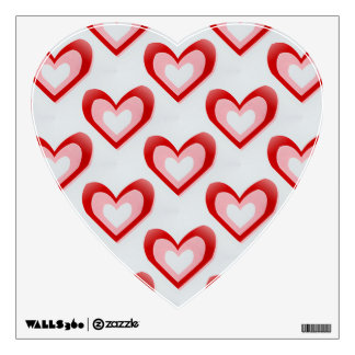 Hearts Within a Heart Pattern Wall Sticker