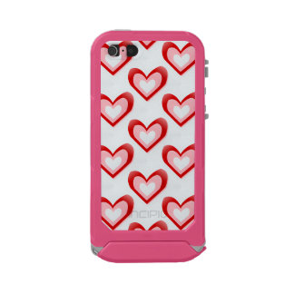 Hearts Within a Heart Pattern Waterproof Case For iPhone SE/5/5s