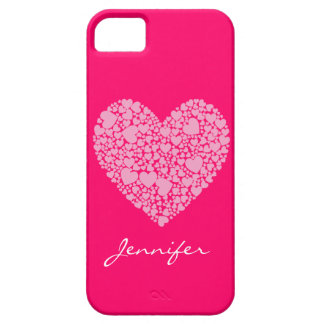 Hearts within a Heart-Pink iPhone SE/5/5s Case