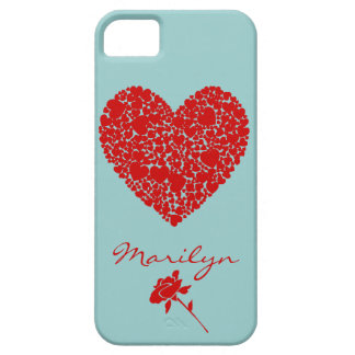 Hearts within a Heart-Red iPhone SE/5/5s Case