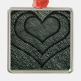 Hearts within hearts metal ornament