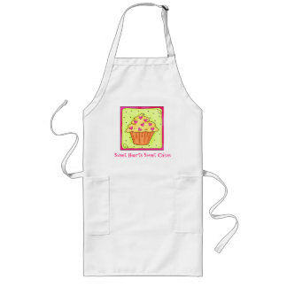 Hearts Yellow Cupcake Apron Business Personalized