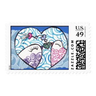 heartsart42 postage stamps