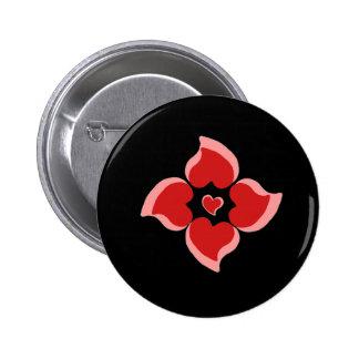 heartsdesignfade redheartpattern pins