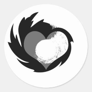 HeartSpin Classic Round Sticker