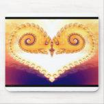 Heartspiral fractal- mousepad tapete de ratón