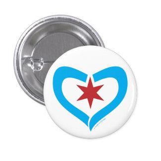 HeartStar Button + made in chicago