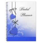 Heartstrings Bridal Planner cobalt Spiral Notebooks