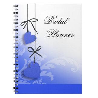 Heartstrings Bridal Planner cobalt Notebook