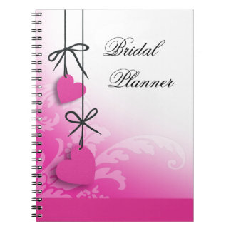 Heartstrings Bridal Planner fuschia Notebook