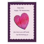 Heartstrings cualquier tarjeta del aniversario de