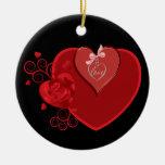 Heartstrings del amor adornos de navidad