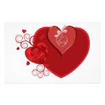 Heartstrings del amor papeleria personalizada