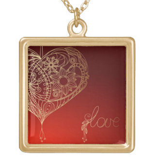 Heartstrings Gold Plated Necklace