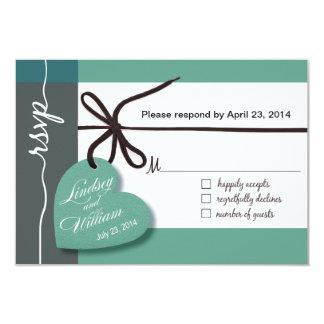 Heartstrings RSVP 1 Response mint Card