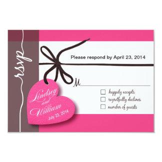 Heartstrings RSVP 1 Response pink Card