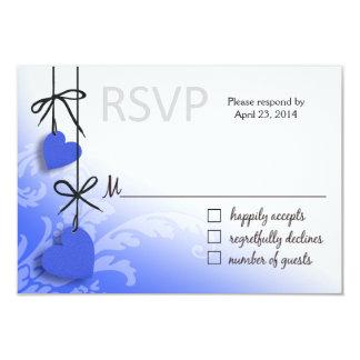 Heartstrings RSVP 2 Response cobalt Card