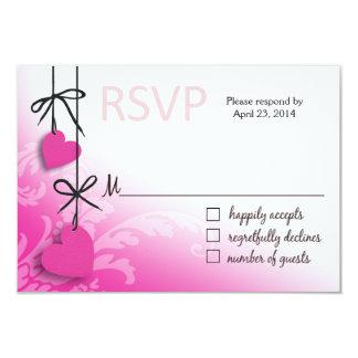 Heartstrings RSVP 2 Response fuschia Card