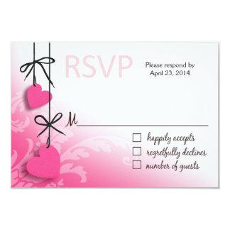Heartstrings RSVP 2 Response pink Card