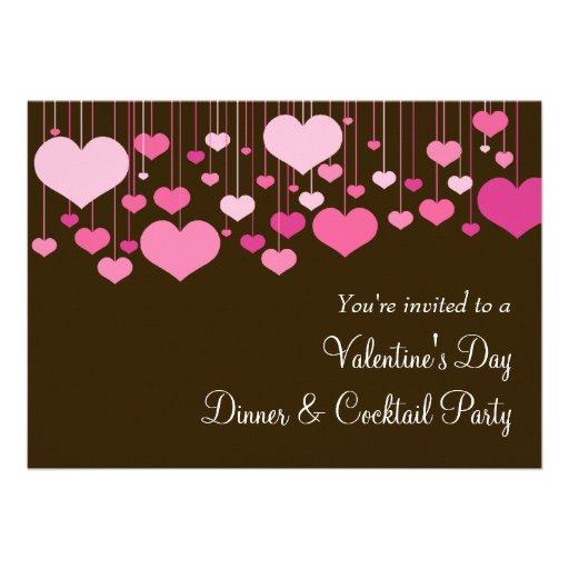 heartstrings valentine party invitation - Valentine Party Invitations