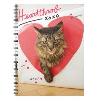 Heartthrob Cat Spiral Notebook