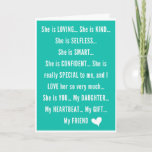 "Heartwarming Daughter Birthday Wishes Card<br><div class=""desc"">Inspirational Birthday Message for a LOVING, KIND, SELFLESS, SMART, CONFIDENT, and SPECIAL Daughter from Mom or Dad. If your daughter is your heartbeat, this is the perfect birthday greetings! An emotional birthday message from the heart from mother, and/or father. It's your daughter's birthday... Let her know just how special she...</div>"